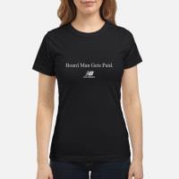 Kawhi Leonard Board Man Gets Paid New Balance T-Shirt ladies tee