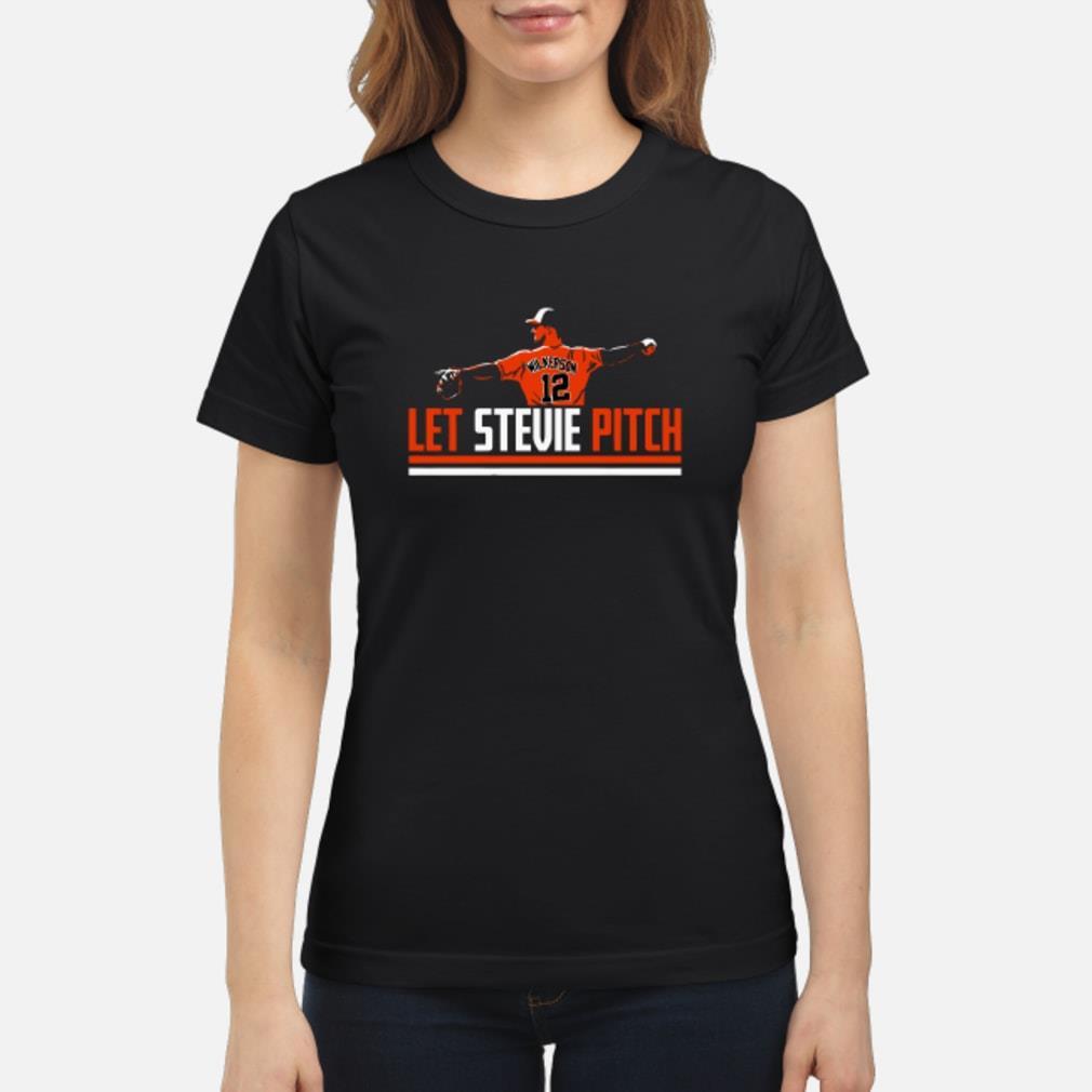 Let Stevie Pitch T Shirt ladies tee