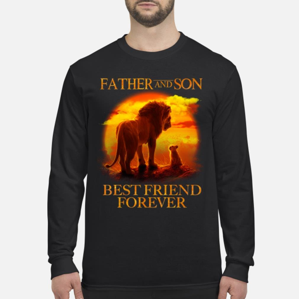 Lion King Father And Son Best Friend Forever Shirt Long sleeved
