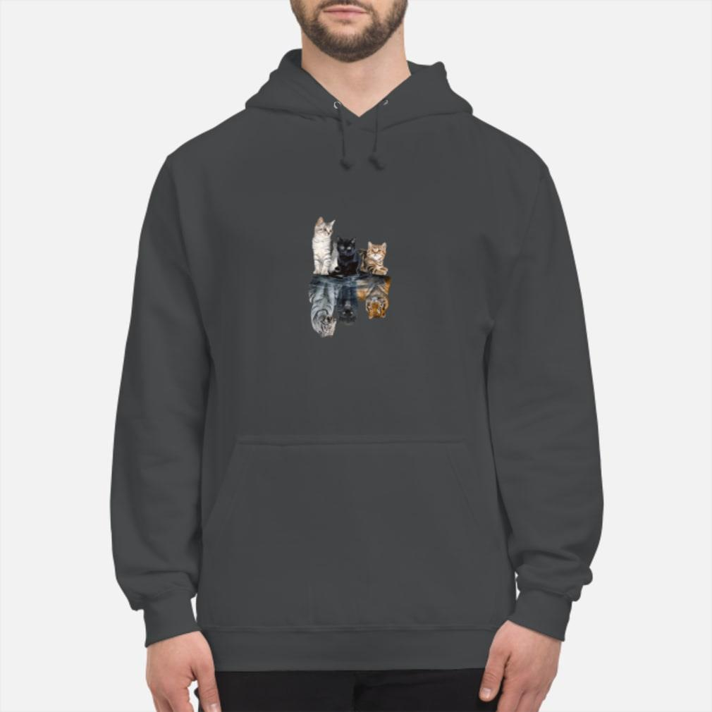 Mariashirts 2085 - Believe in yourself cat tiger poster shirt hoodie