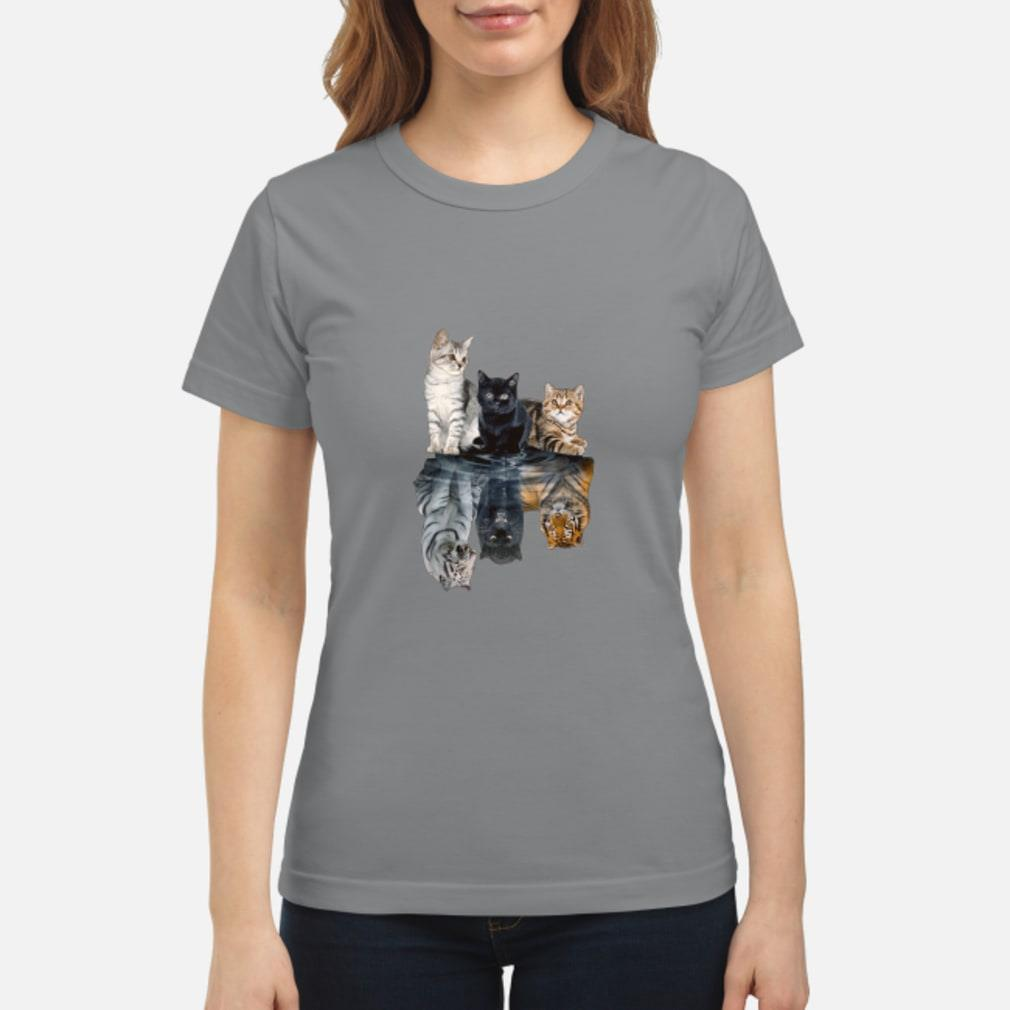 Mariashirts 2085 - Believe in yourself cat tiger poster shirt ladies tee