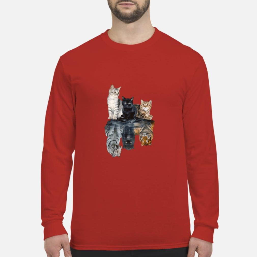 Mariashirts 2085 - Believe in yourself cat tiger poster shirt Long sleeved