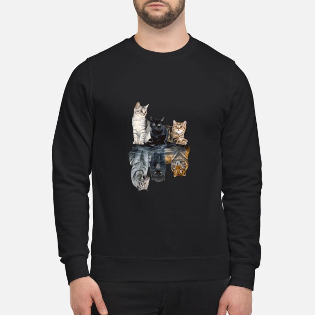 Mariashirts 2085 - Believe in yourself cat tiger poster shirt sweater