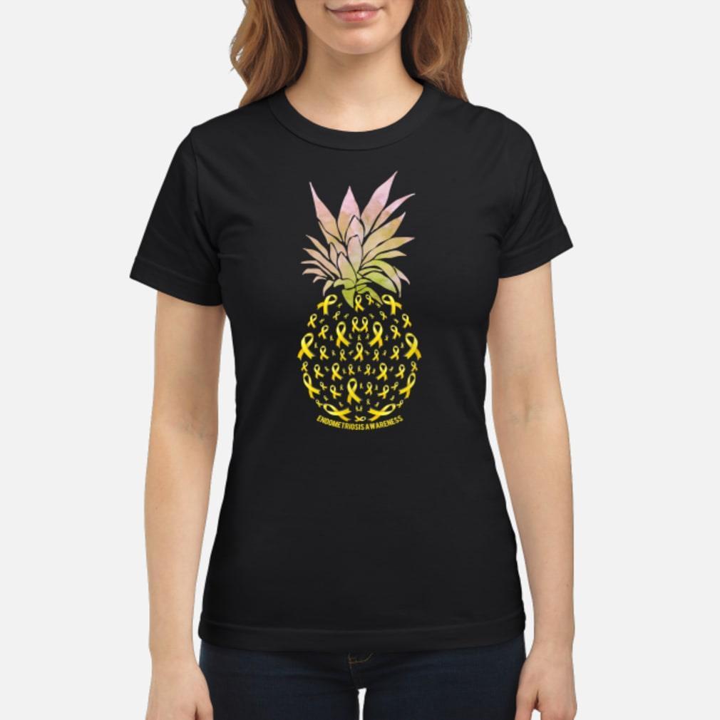 Pineapple Endometriosis AWARENESS shirt ladies tee