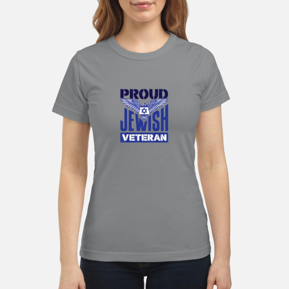 Proud Jewish veteran shirt ladies tee