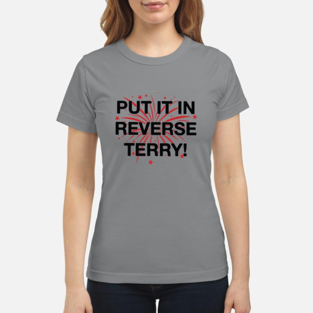 Put it in reverse terry T-Shirt ladies tee