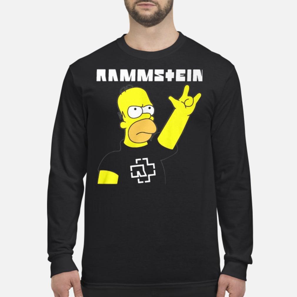 Rammstein Homer Simpson shirt Long sleeved