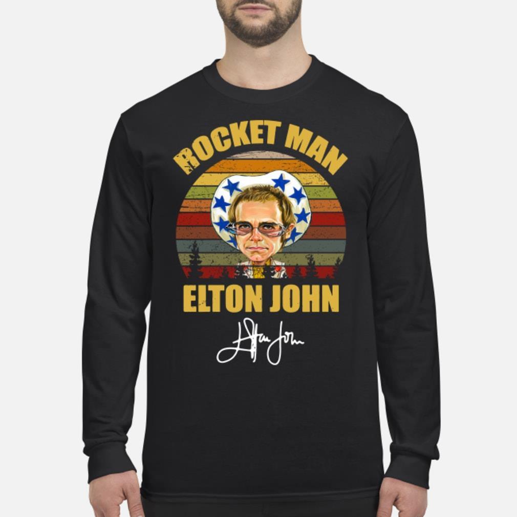 Rocket Man Elton John Signature Sunset shirt Long sleeved