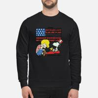Schroeder playing piano Woodstock and Snoopy 4th of July shirt sweater