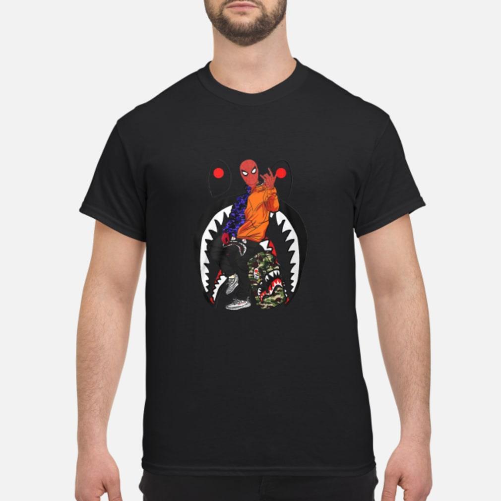 Sharkder-man Spidrman Far from home shirt