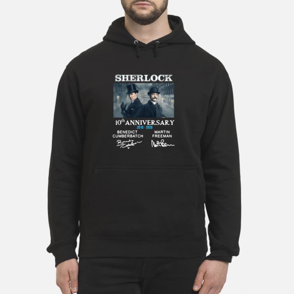 Sherlock Holmes 10th Anniversary Signature Shirt hoodie