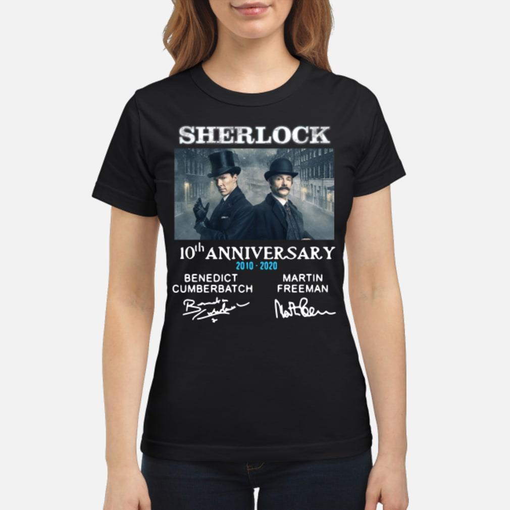 Sherlock Holmes 10th Anniversary Signature Shirt ladies tee