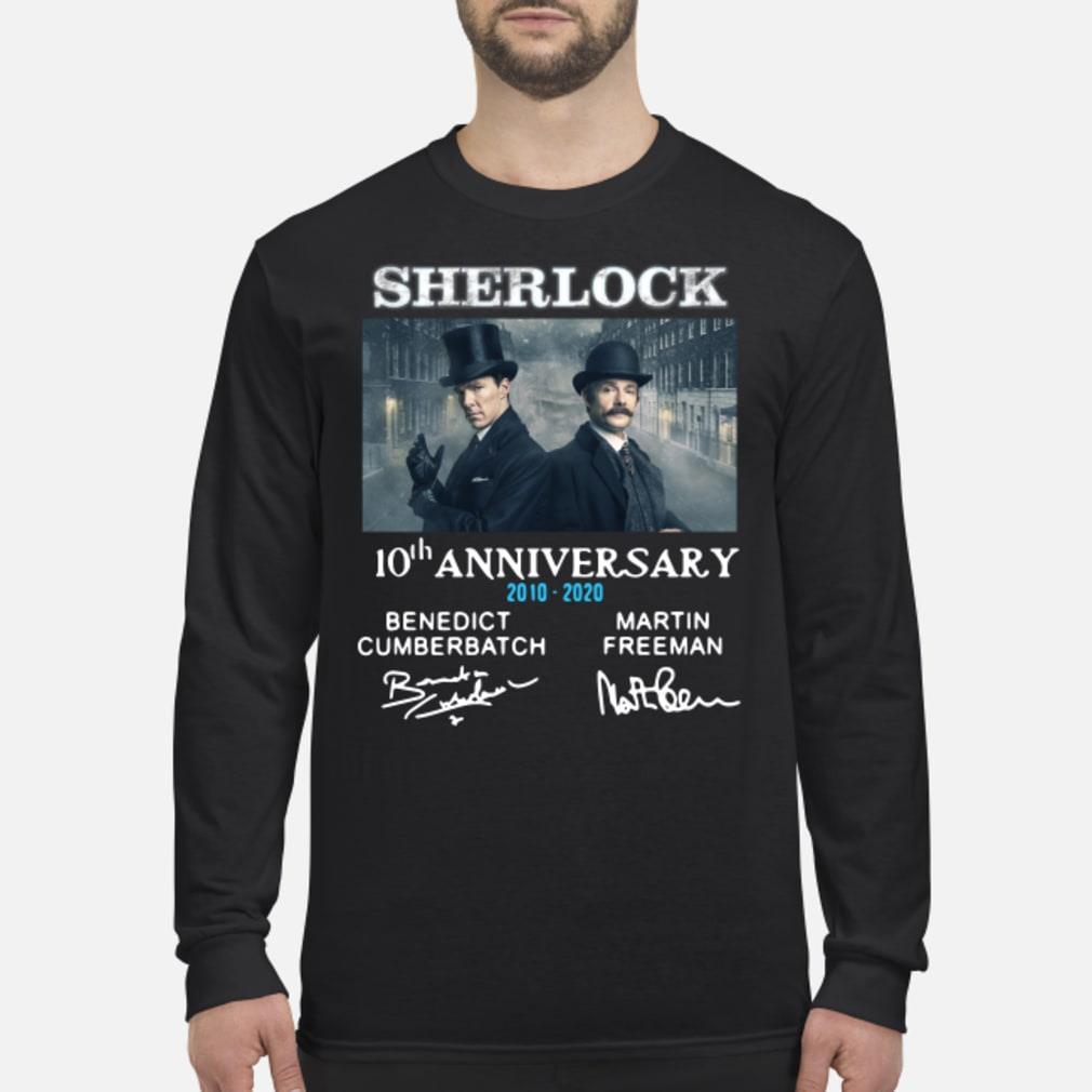Sherlock Holmes 10th Anniversary Signature Shirt Long sleeved