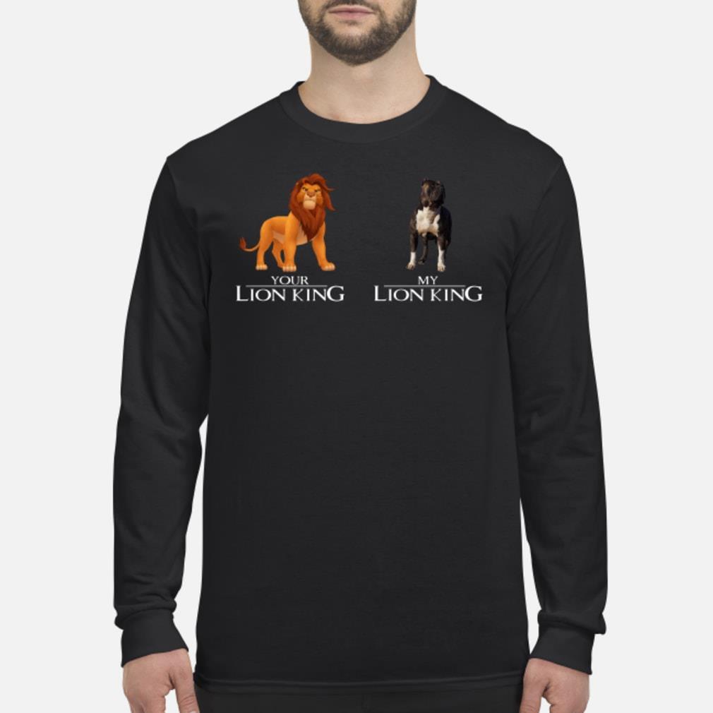 Simba Your Lion King Pitbull My Lion King Shirt Long sleeved