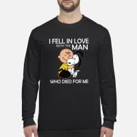 Snoopy I feel in love with the man who died for me shirt long sleeved