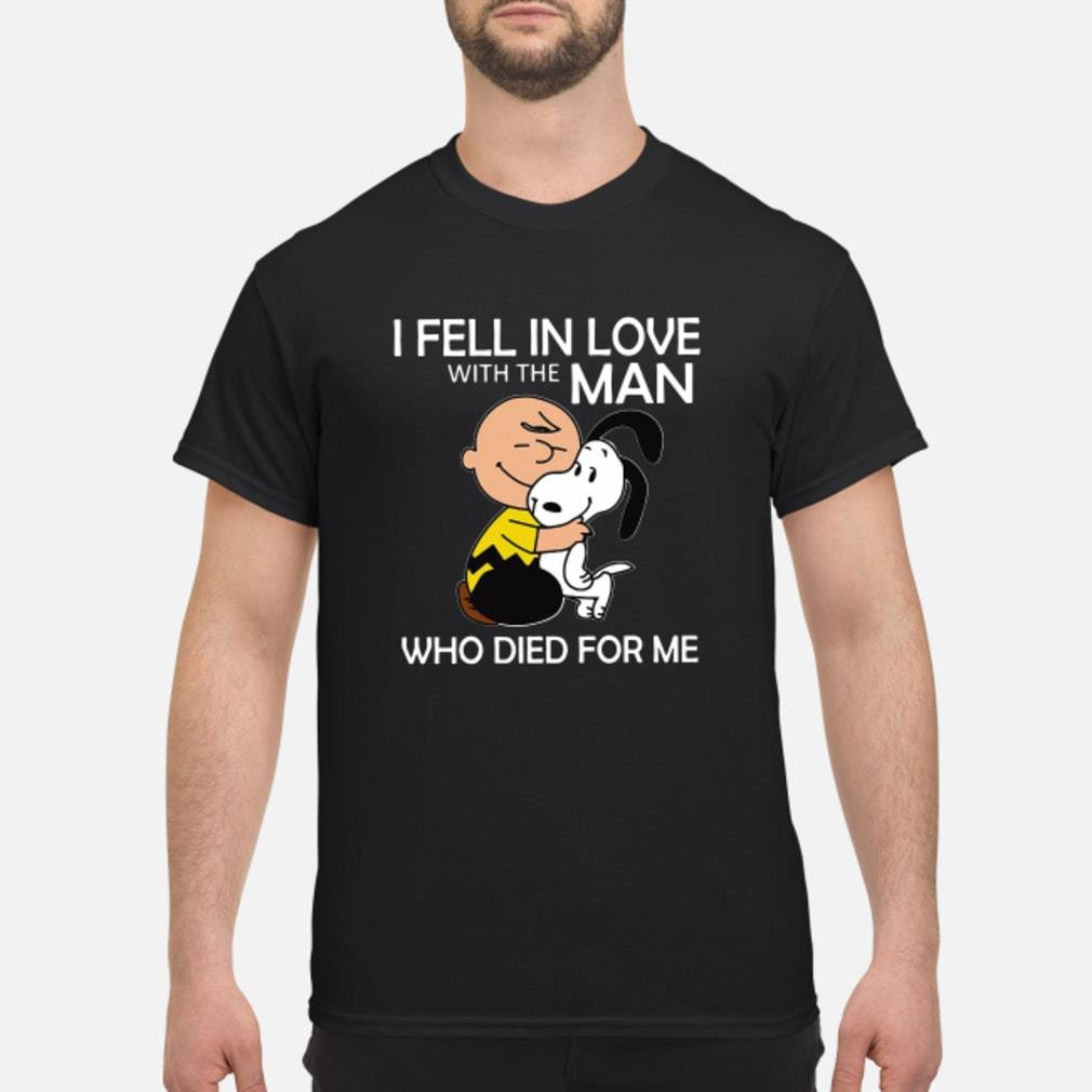 Snoopy I feel in love with the man who died for me shirt