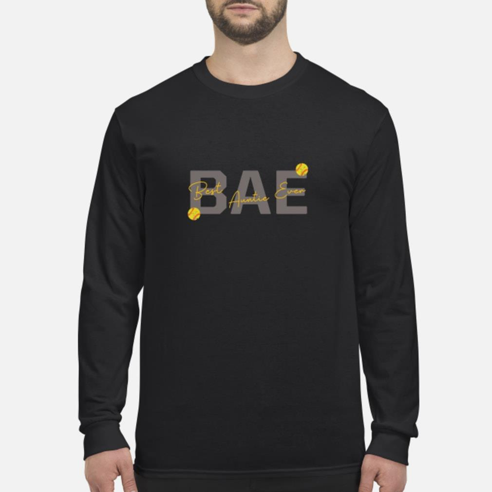 Softball Bae Best Auntie Ever Shirt Long sleeved