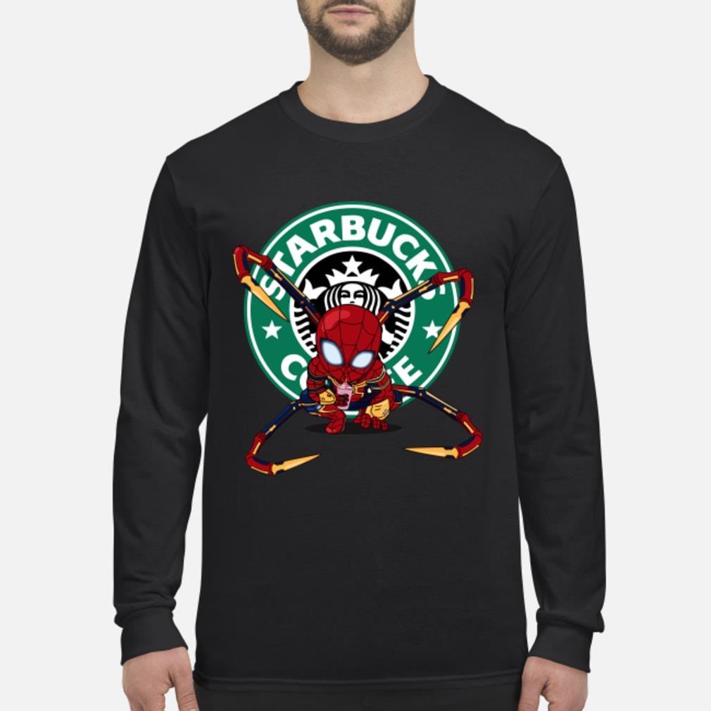 Spider-man Starbucks Coffee Shirt Long sleeved