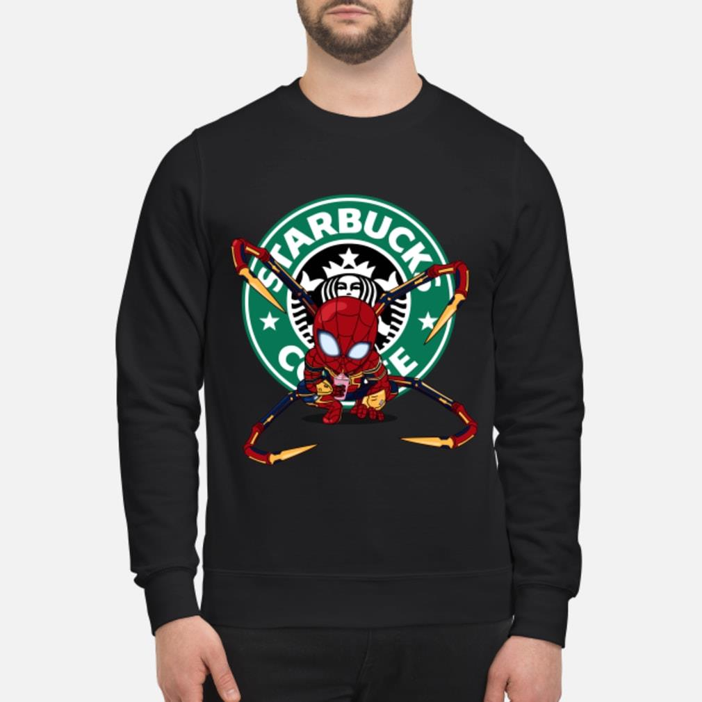 Spider-man Starbucks Coffee Shirt sweater