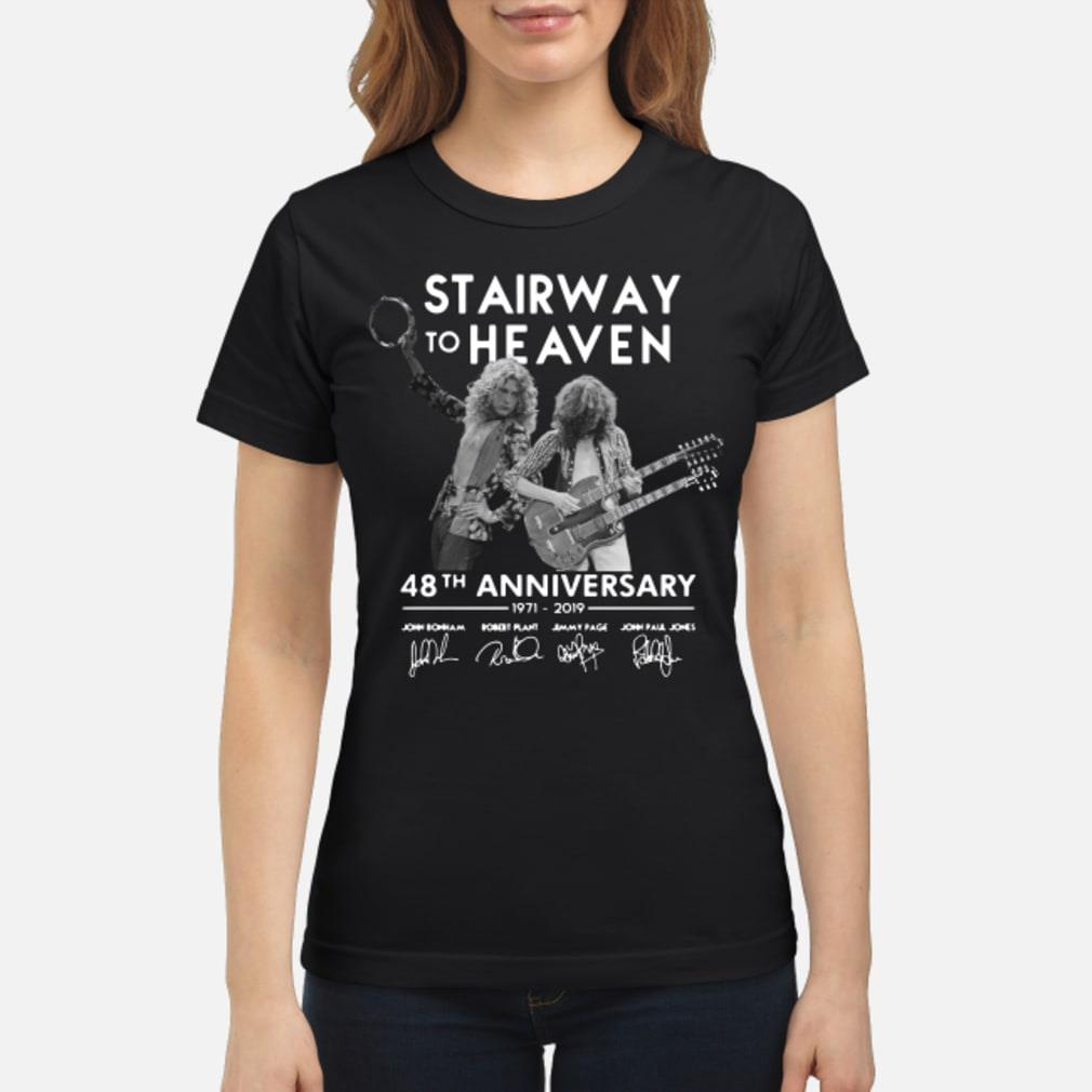 Stairway To Heaven 48th Anniversary Shirt ladies tee