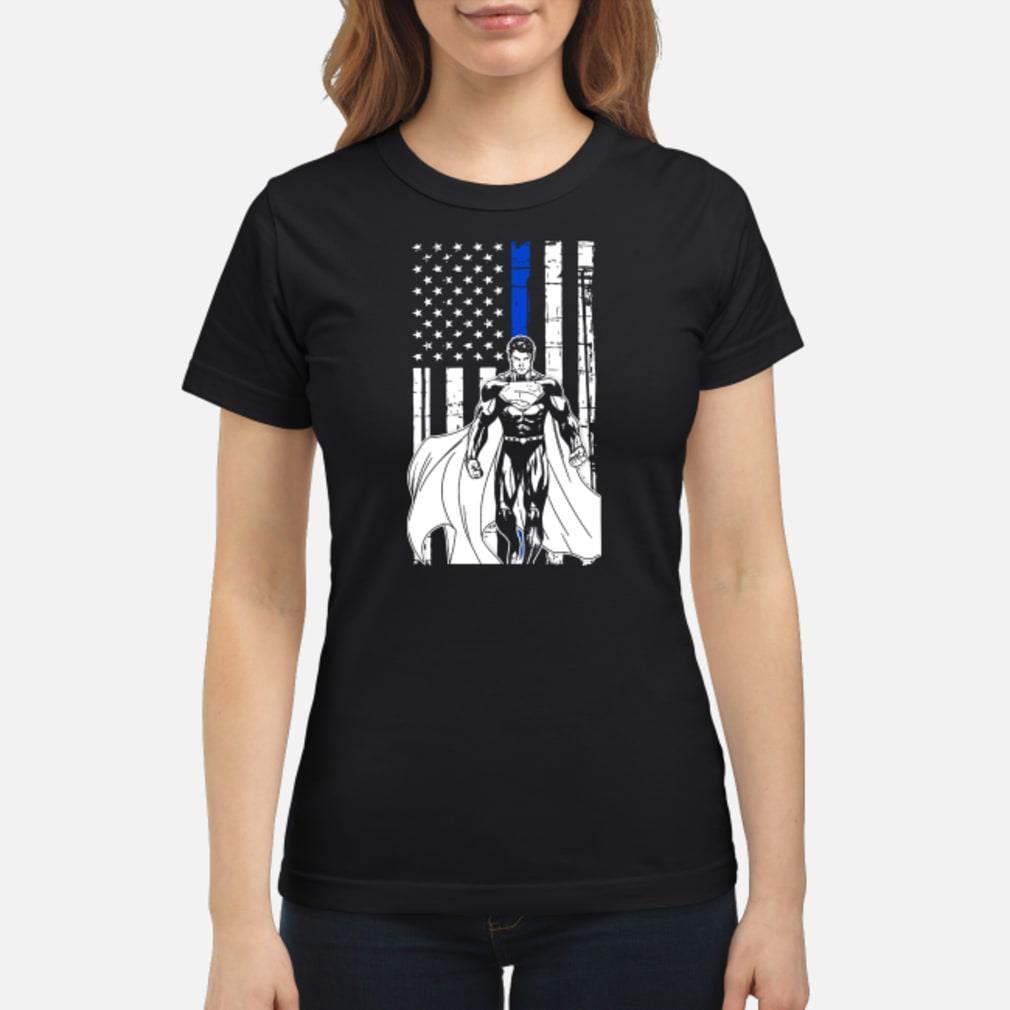 Superman american flag Shirt ladies tee