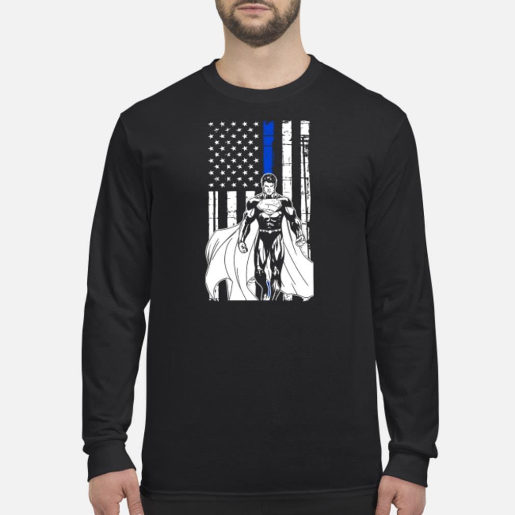 Superman american flag Shirt Long sleeved