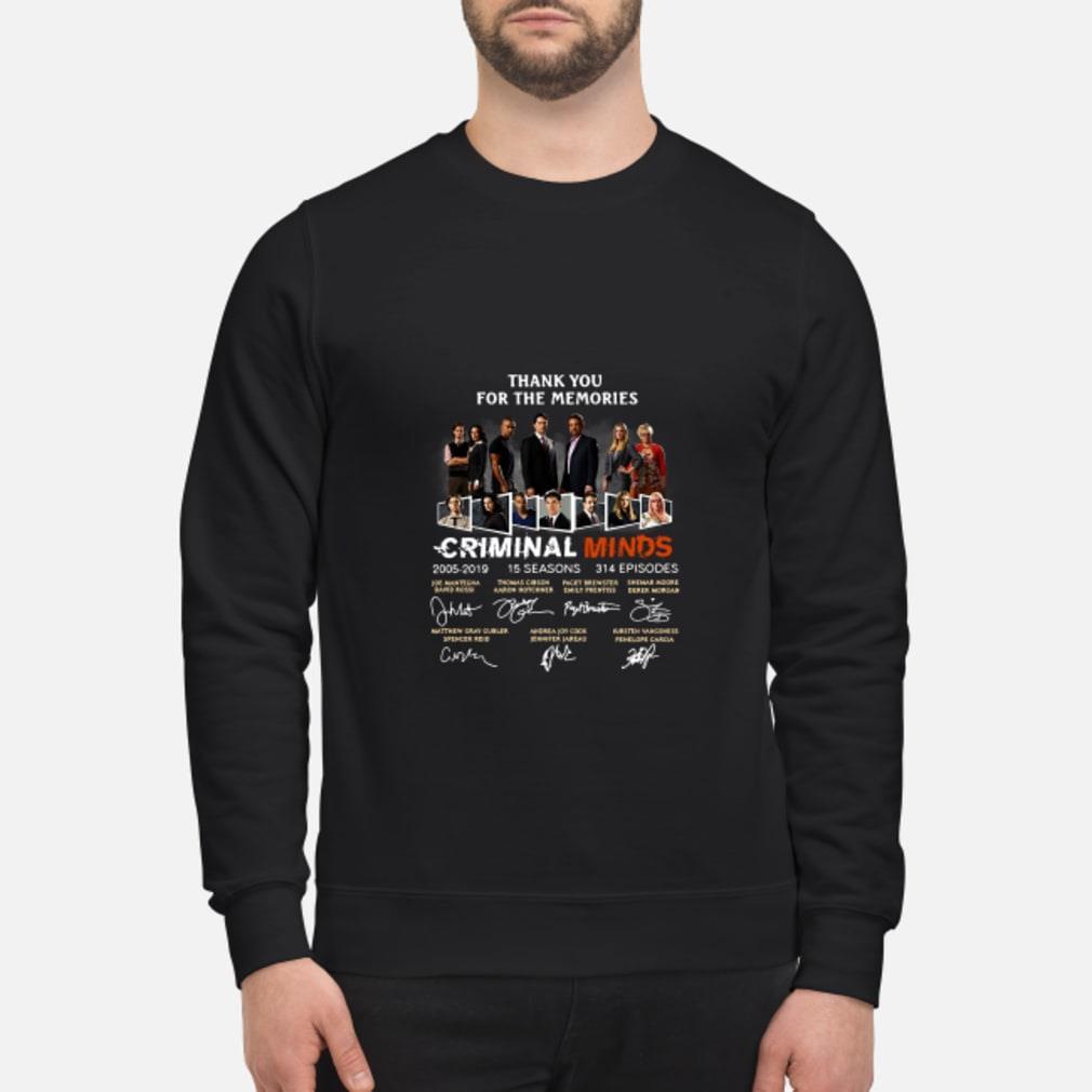 Thank You For The Memories Criminal Minds Signature Shirt sweater