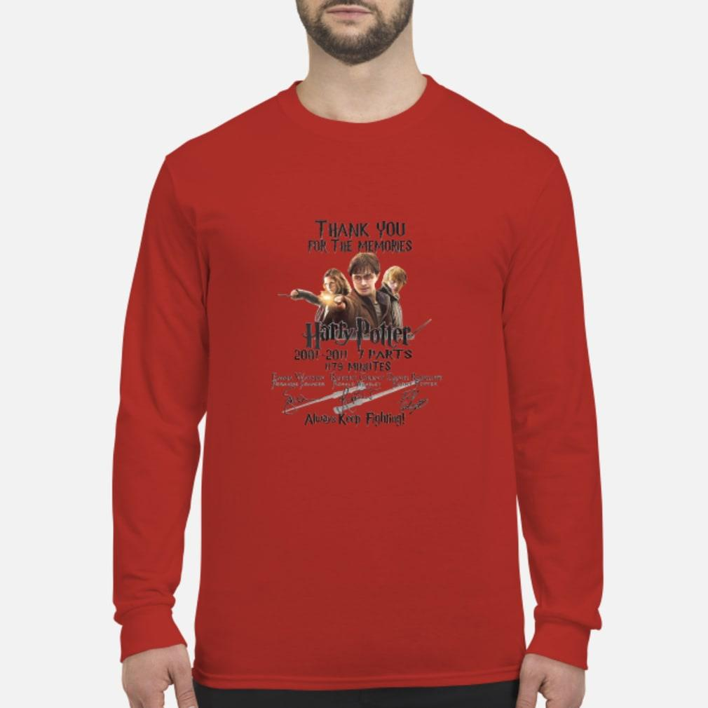 Thank You For The Memories Harry Potter Keep Fighting Shirt long sleeved