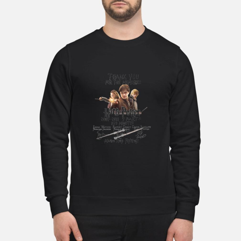 Thank You For The Memories Harry Potter Keep Fighting Shirt sweater