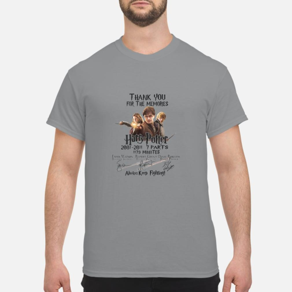 Thank You For The Memories Harry Potter Keep Fighting Shirt