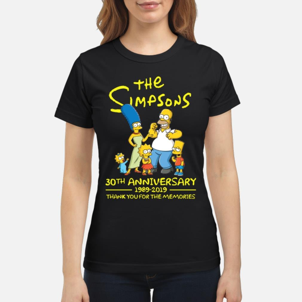 The Simpsons 30th aniversary 2019 shirt  ladies tee