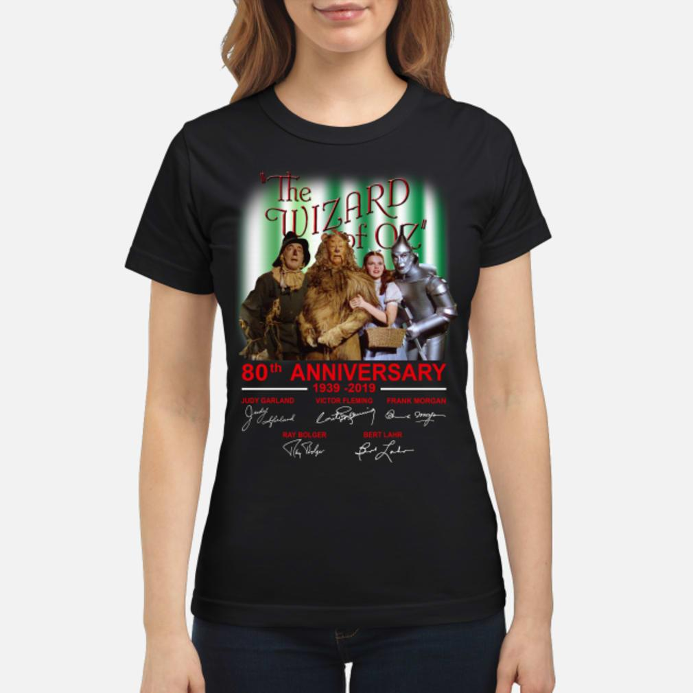 The Wizard Of OZ 80th Anniversary Shirt ladies tee