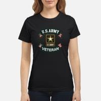 US Army Veteran Ribbon shirt ladies tee