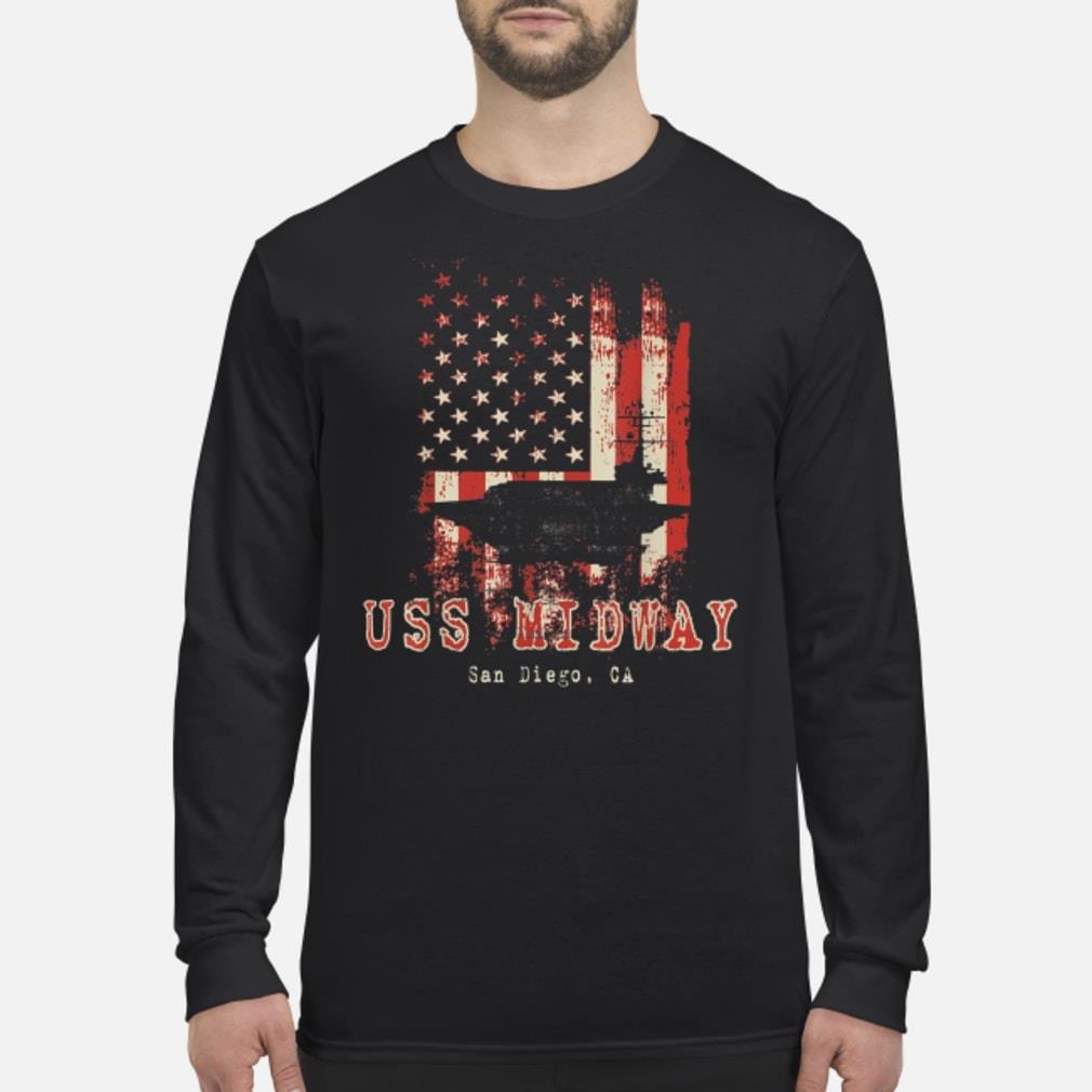 USS Midway shirt Long sleeved