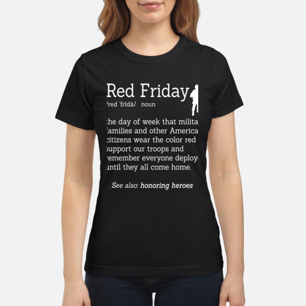 Veteran red friday definition shirt ladies tee