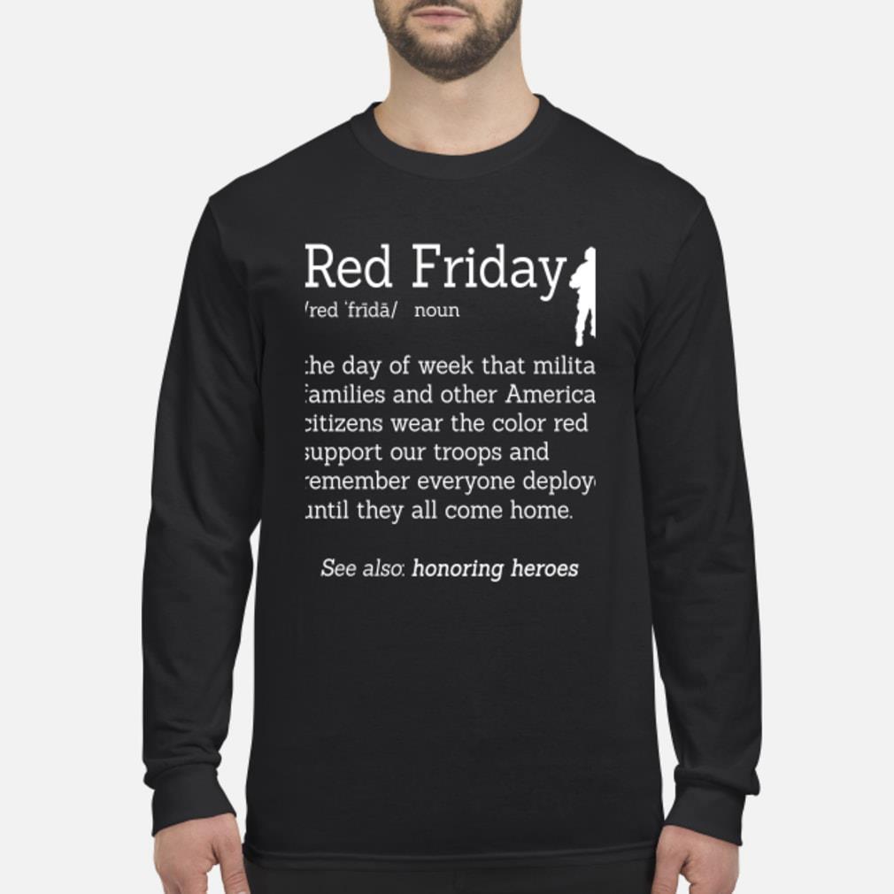 Veteran red friday definition shirt Long sleeved