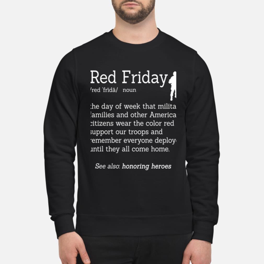 Veteran red friday definition shirt sweater