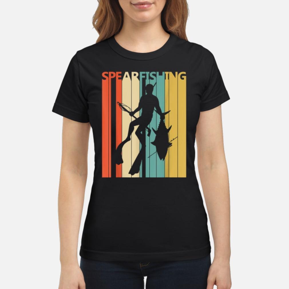 Vintage Spearfishing T-Shirt ladies tee