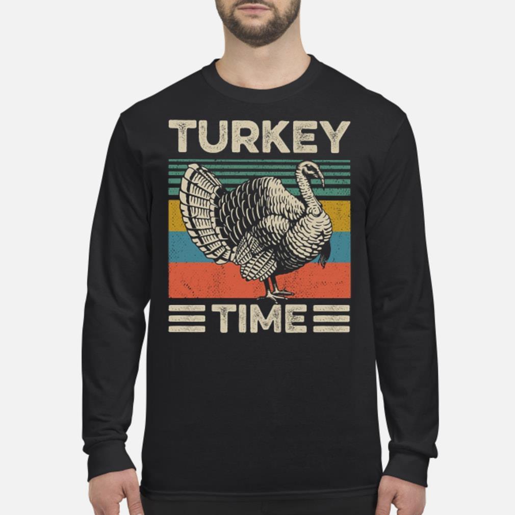Vintage Turkey Time Shirt Long sleeved