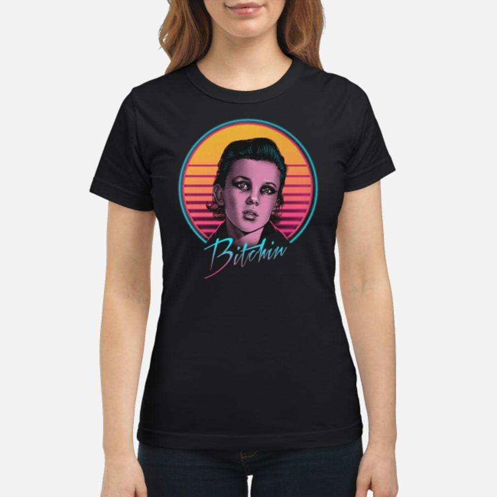 Vintage stranger things eleven 11 bitchin Shirt ladies tee