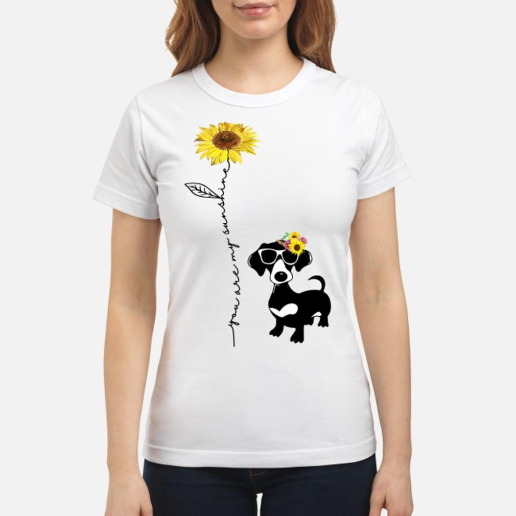 You Are My Sunshine Dachshund Shirt ladies tee