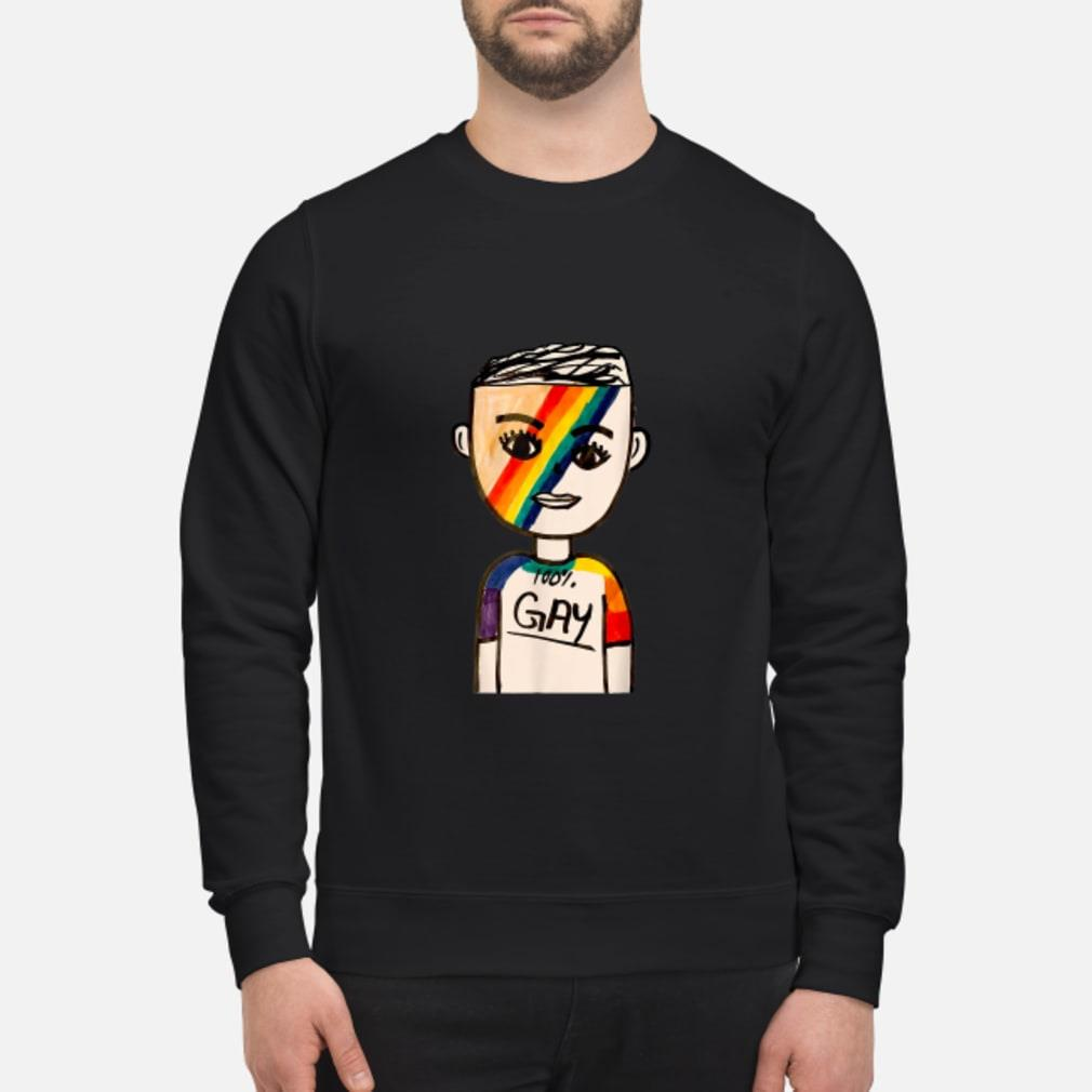100% Gay LGBT Shirt sweater