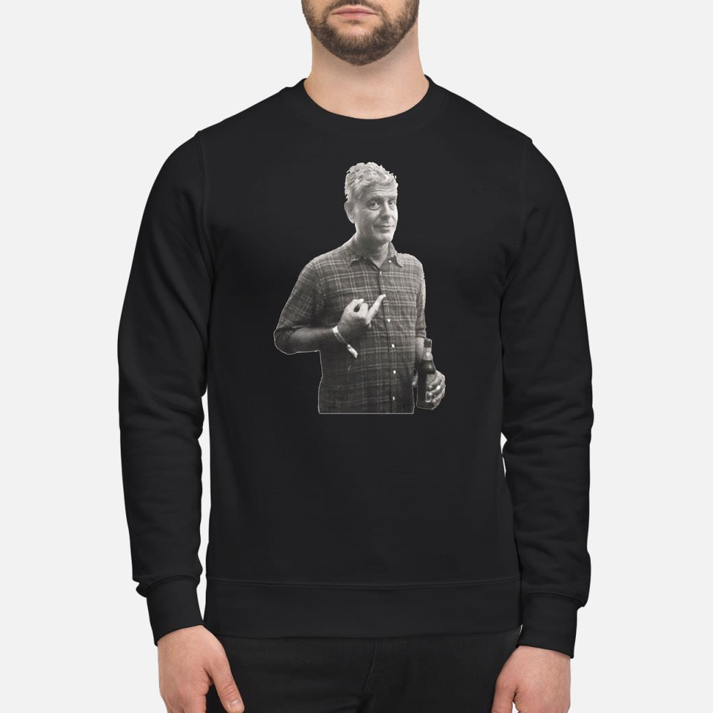Anthony bourdain's middle finger Shirt sweater