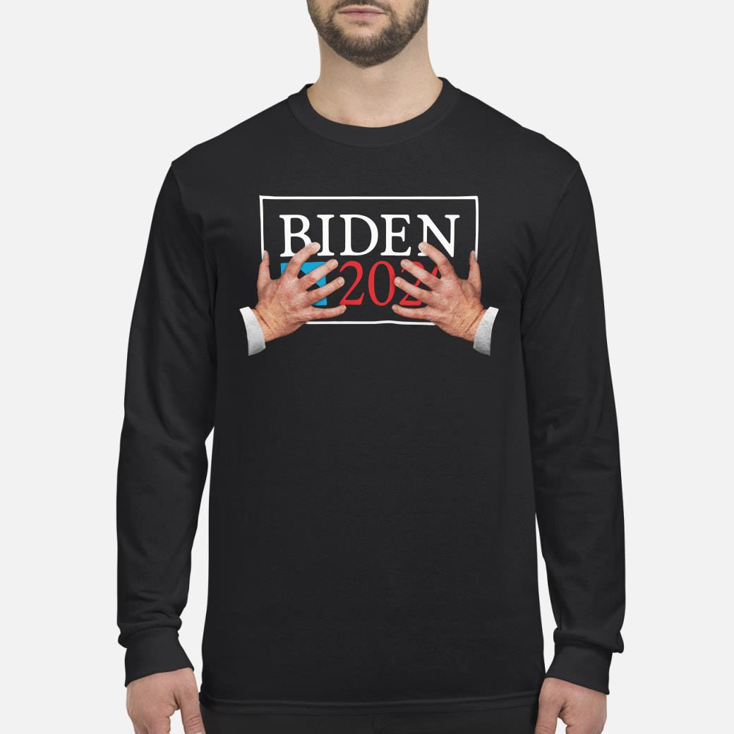 Biden 2020 hand shirt Long sleeved