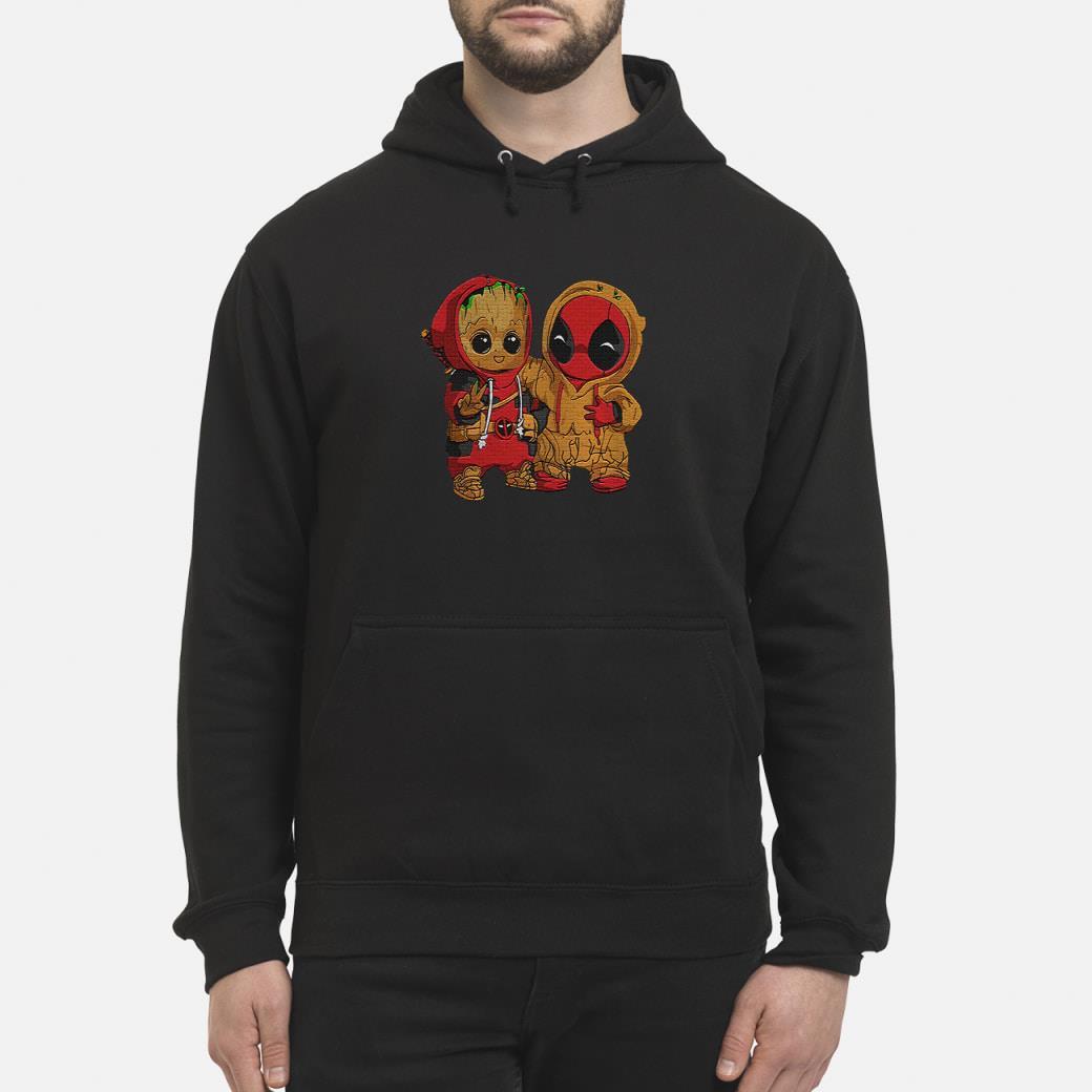 Dadpool and Groot baby shirt hoodie