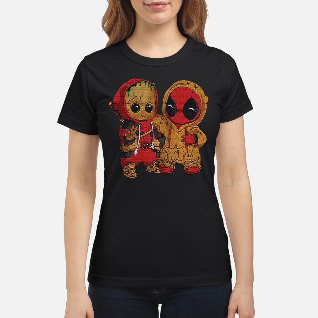 Dadpool and Groot baby shirt ladies tee