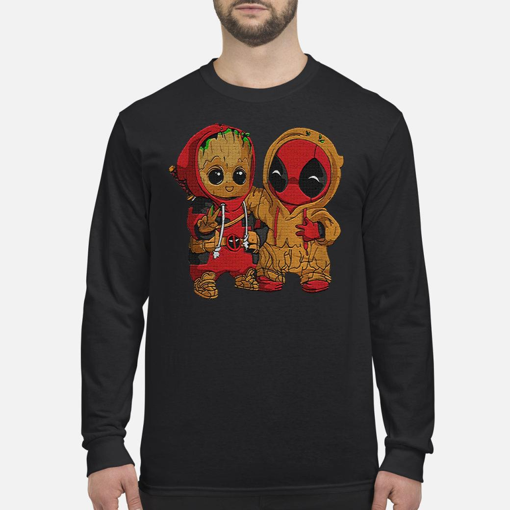 Dadpool and Groot baby shirt Long sleeved