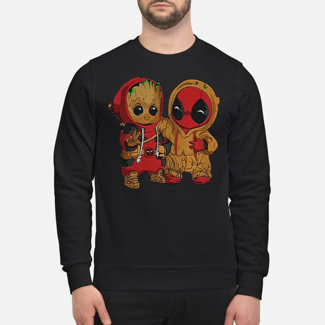 Dadpool and Groot baby shirt sweater