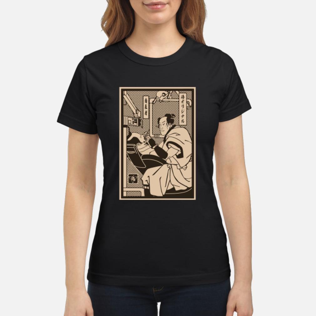 Dentist Samurai shirt ladies tee