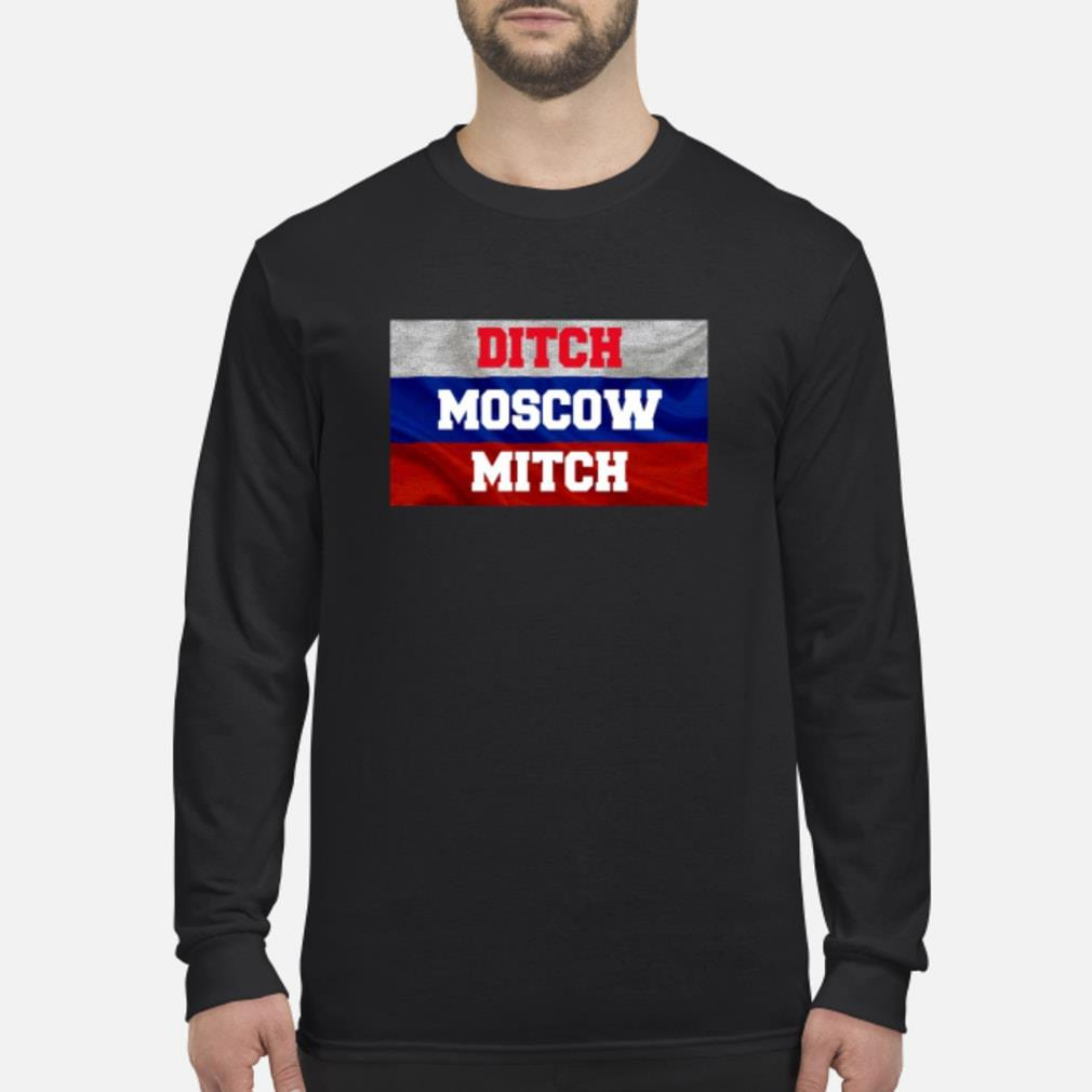 Ditch Moscow Mitch Shirt McConnell Russia Flag Tee Shirt Long sleeved